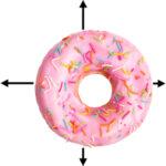 donut met een variabele witmarge