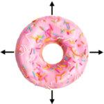 donut met een vaste witmarge
